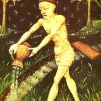 西洋占星術 インスパイア吉祥寺 今季洋 15世紀フランスの水瓶座の絵