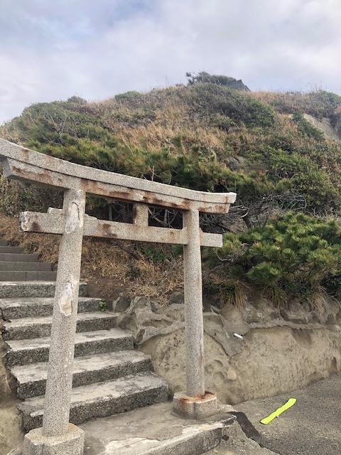 楫の三郎山神社 鳥居